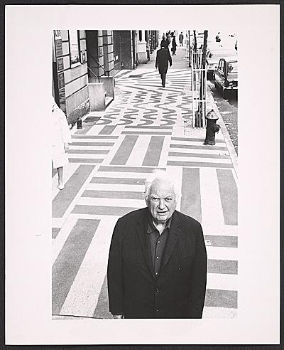 Calder and Terrazzo Sidewalk, NY, 1970