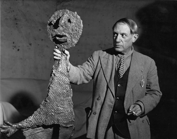 Brassai, Picasso with The Orator, 1939