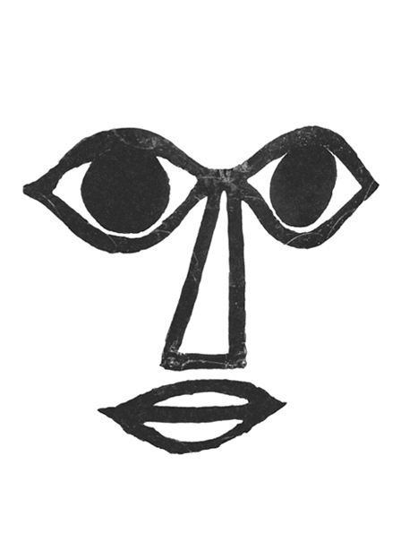 Untitled face (after Oskar Schlemmer), stencil for bread
